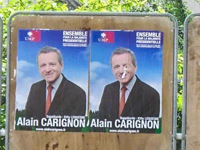 Affiche de campagne d'Alain Carignon en 2006. DR