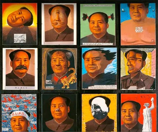 "Pour son oeuvre ""Chairman Mao"", Zhang Hongtu a transformé une photo de Mao Zedong. © DR/CEA+"