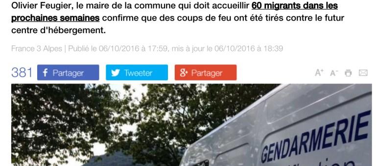 Dans l'Isère, un futur centre d'hébergement de migrants ciblé par des tirs