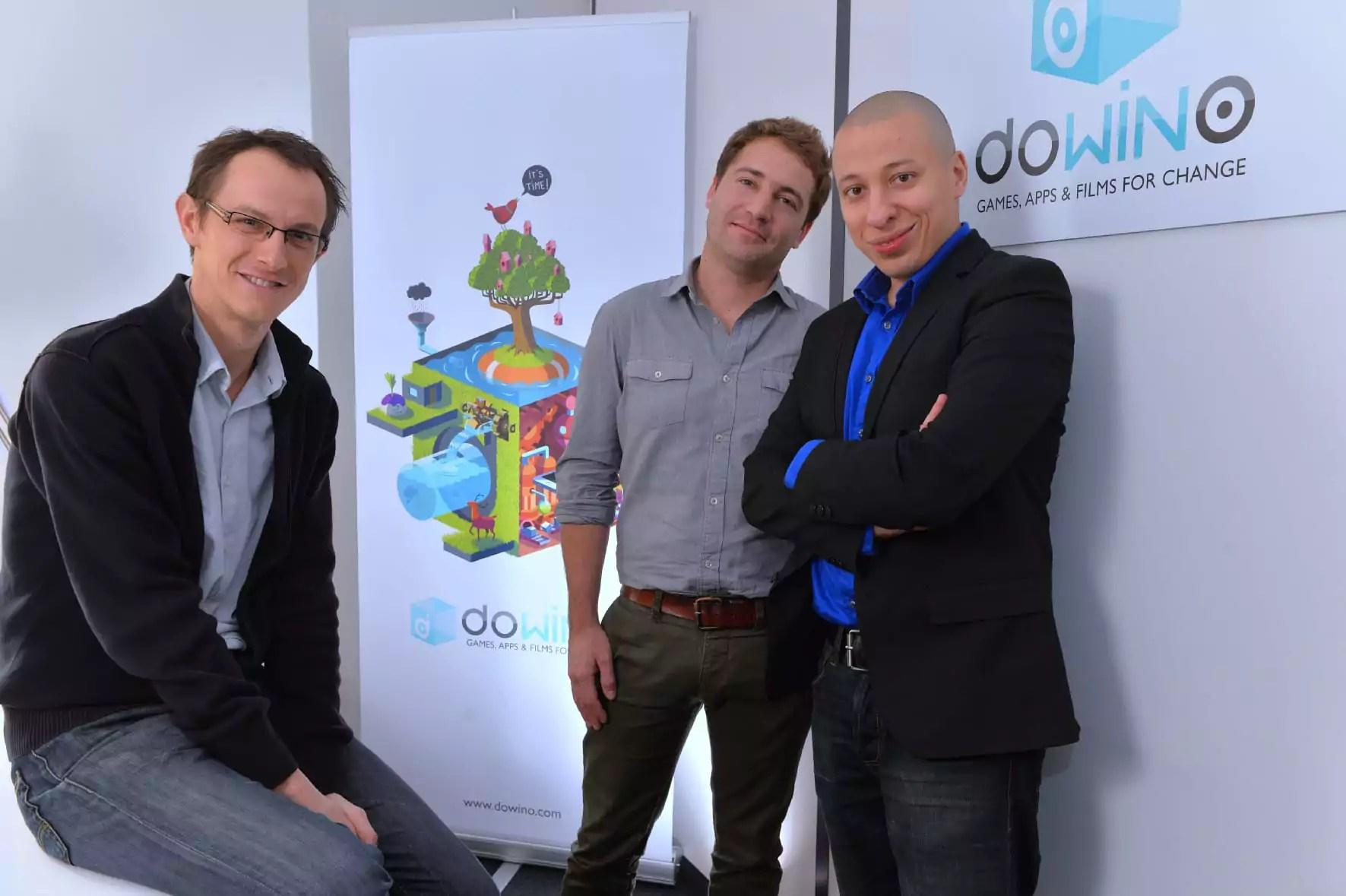 Les trois fondateurs de Dowino : Pierre-Alain Gagne, Jérôme Cattenot et Nordine Ghachi.