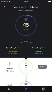 Capture d'écran de l'application Geco Air sur iPhone.