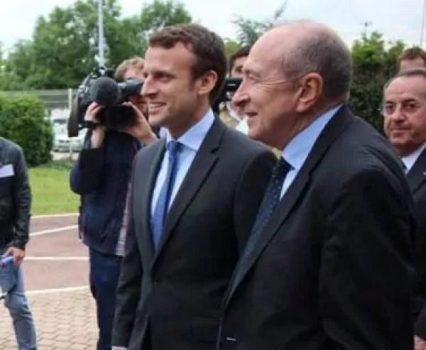 Emmanuel Macron et Gérard Collomb lors ds Jeco 2016. Photo compte Twitter de Gérard Collomb.