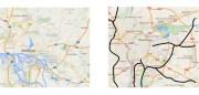 Réseau de voies rapides à Lyon (aire urbaine 2 millions d'habitants) et à Hambourg (aire urbaine 3,5 millions d'habitants) à la même échelle. Lyon dispose d'un réseau de voies rapides largement plus dense et maillé. Pourtant la faiblesse de son réseau autoroutier n'empêche pas Hambourg d'être la métropole la plus prospère d'Allemagne.