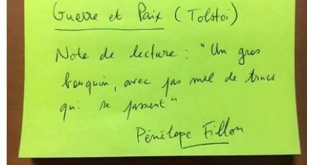 Depuis Villeurbanne, un concours Facebook se moque des notes de lecture de Pénélope Fillon