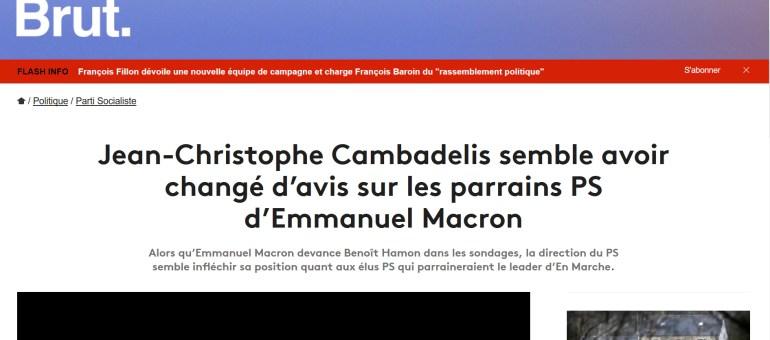 Les soutiens PS à Emmanuel Macron ne seront pas exclus, ou le gros rétropédalage de Jean-Christophe Cambadélis