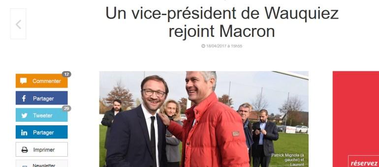 Patrick Mignola, vice-président de Laurent Wauquiez, rallie Emmanuel Macron