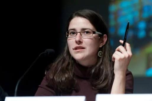 Adrienne Charmet, membre de la Quadrature du net. Photo CC by Inria Actus via Flickr