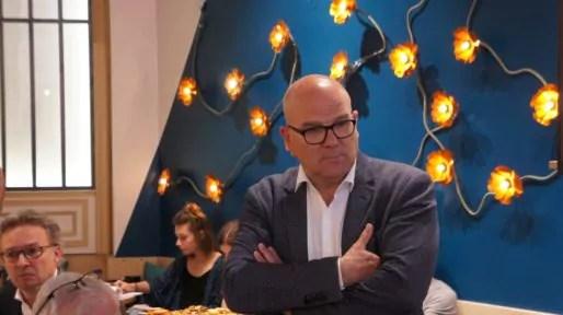 Bruno Bonnell à l'Anticafé le mardi 16 mai 2017 lors de la présentation des candidats de la République En Marche ! aux élections législatives 2017. ©HH/Rue89Lyon