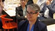 Anne Brugnera à l'Anticafé le mardi 16 mai 2017 lors de la présentation des candidats de la République En Marche ! aux élections législatives 2017. ©HH/Rue89Lyon