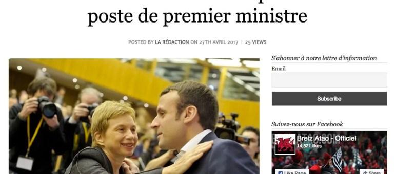 Laurence Parisot, Premier ministre si Emmanuel Macron est élu président ?