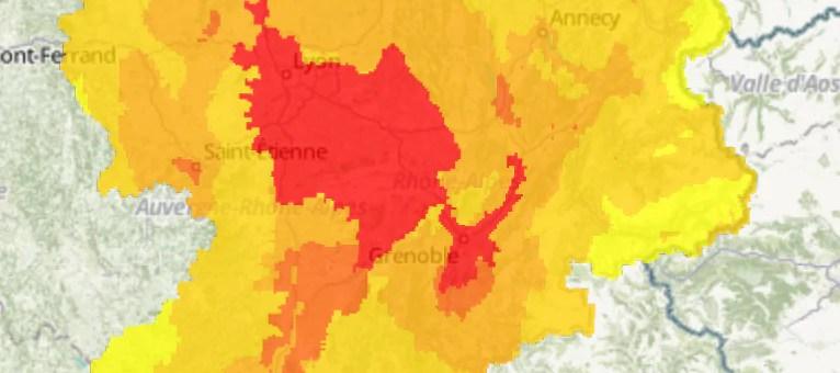 Premier pic de pollution à l'ozone de la saison à Lyon et Grenoble