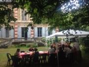 Pique-nique à la villa Monoyer organisé par le Pari Solidaire Lyon ©HH/Rue89Lyon