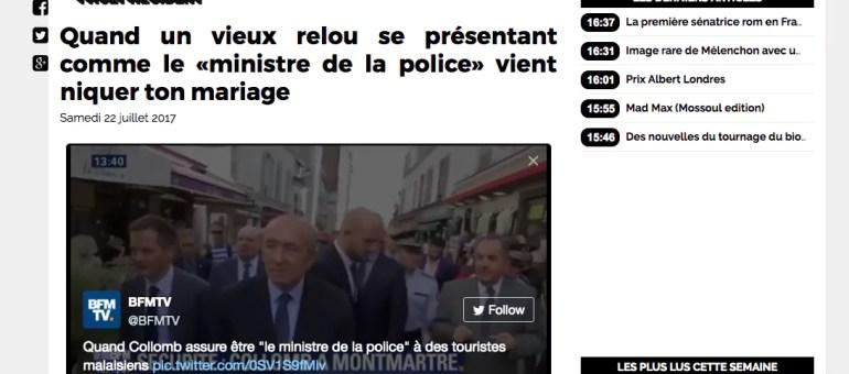 [Vidéo] Malaise lorsque Gérard Collomb se présente comme «ministre de la Police»