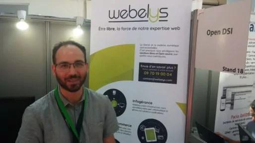 Camille Laffite, fondateur de Webelys hébergeur basé à Limonest dans le Rhône. Photo BE/Ru89Lyon