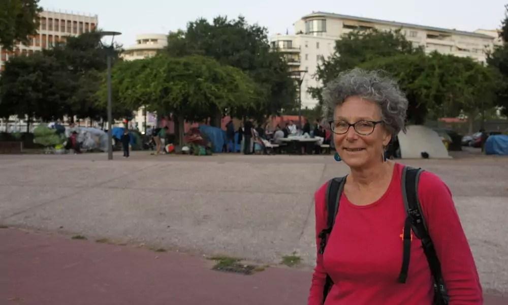 Agnès, militante communiste et membre du collectif Agir Migrants en soutien aux migrants du 3ème arrondissement de Lyon. ©LB/Rue89Lyon