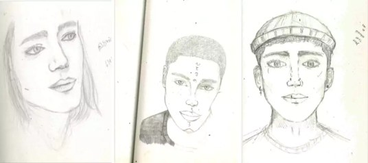 Portraits d'élèves du LP Cuzin par Lydia