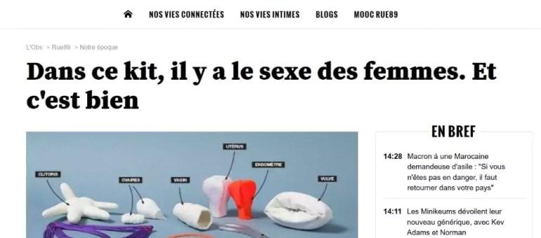 Une mallette pédagogique qui montre tout du sexe féminin