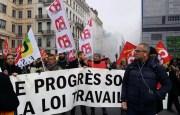 A Lyon, 4e manifestation contre la réforme du code de travail et d'autres réformes du gouvernements. ©LB/Rue89Lyon