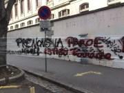 Banderole à Lyon 2. ©SP/Rue89Lyon.