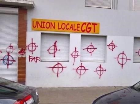 A Lyon, un local de la CGT pris pour cible par des nationalistes