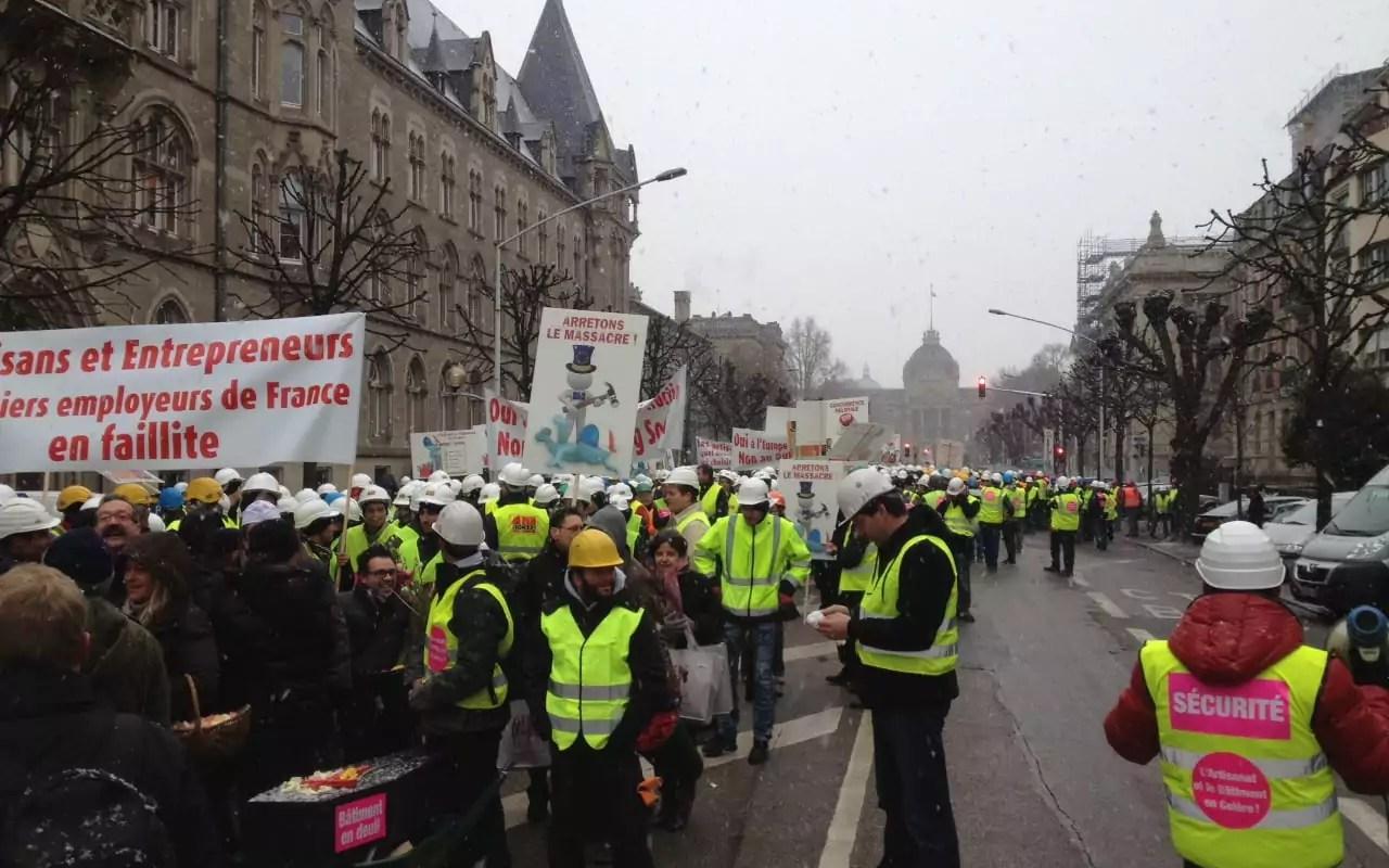 Elections professionnelles : le BTP et l'artisanat dans la rue