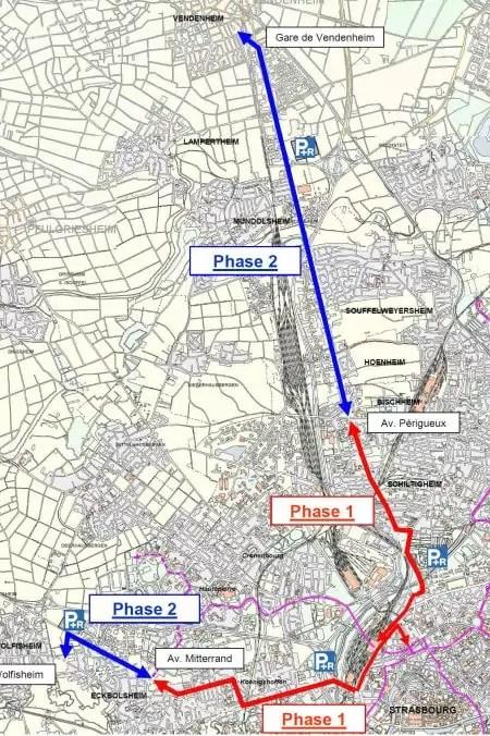 Les objectifs du tram ouest et nord (document CUS)