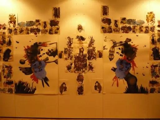 Ainaz Nosrat, vue de l'exposition, Salle Conrath de l'Hôtel de ville photographie : Anaïs Roesz