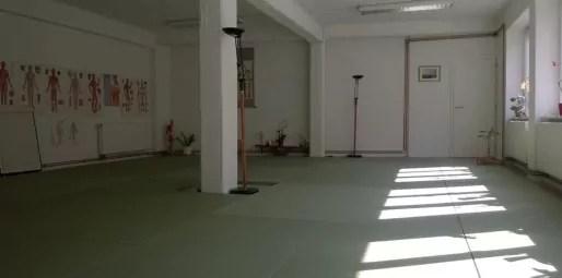 Salle de travail de l'école de shiatsu Yin, près de la place de l'Homme de Fer à Strasbourg (Photo CF/ Rue89 Strasbourg)