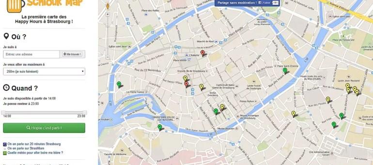 Une carte des Happy Hours à Strasbourg à enrichir