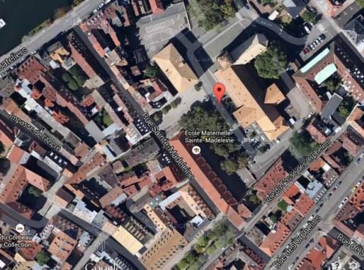 Plan du quartier Sainte-Madeleine à la Krutenau (Google Map)