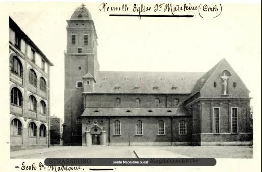 Eglise Sainte-Madeleine après reconstruction (Crédit Archi-Strasbourg)