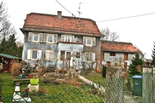 Route des Chasseurs, l'ancien relais de... chasseurs est aujourd'hui une maison particulière (Photo MM / Rue89 Strasbourg)