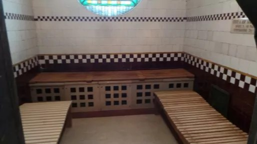 Le sauna des bains.