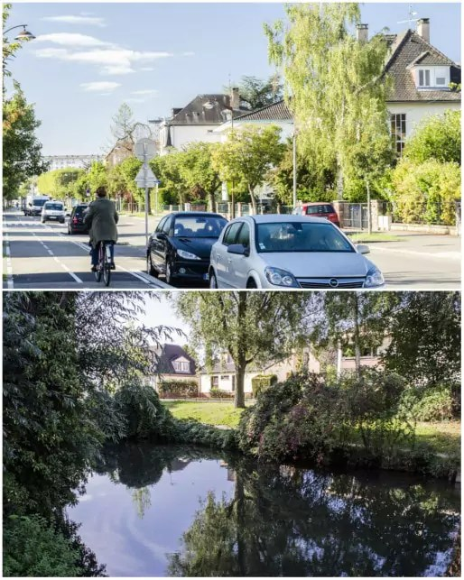 """Coulée verte autour du Krimmeri, au nord du """"quartier des villas"""" (Photos Quentin Bonvalot)"""