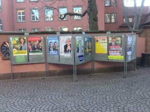 Panneaux électoraux à Strasbourg (Photo JFG / Rue89 Strasbourg / cc)