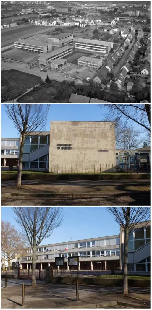 Groupe scolaire du Hohberg, construit en 1965 (Doc. ArchiWiki / Photos MM)