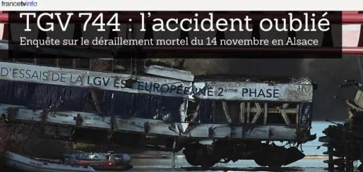 L'accident du TGV d'essai près d'Eckwersheim a provoqué 11 morts. (capture d'écran)