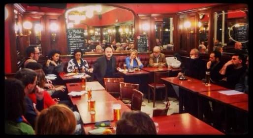 Première réunion pour une primaire citoyenne à Strasbourg au Snack Michel (photo JFG / Rue89 Strasbourg)