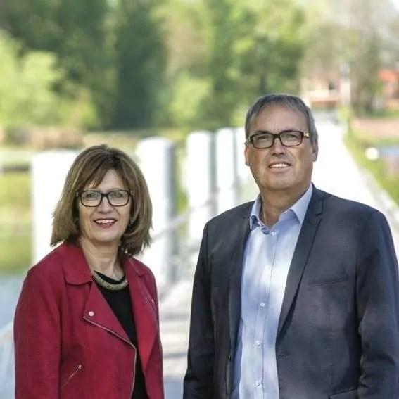 Martine Castellon et Philippe Bies, député (PS) sortant et candidat à sa réélection (doc remis)