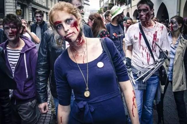 En 2015, la Zombie Walk avait réuni 4 à 5000 personnes (Photo Christophe Kaiser / FlickR / cc)