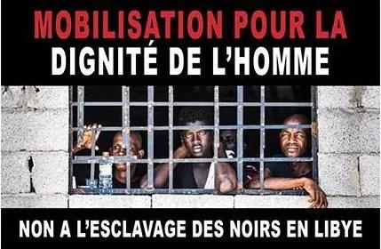 Manifestation contre l'esclavage en Libye devant le Parlement Européen mardi