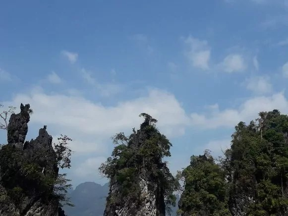 En Thaïlande, impressionnée par la puissance de la forêt tropicale de Khao Sok