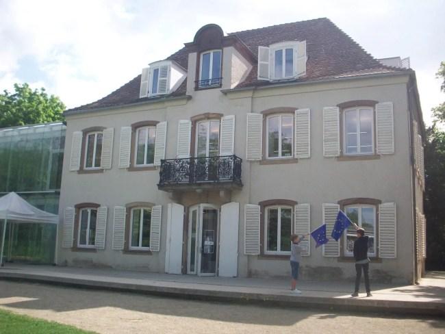La Villa Kaysersguet à la Robertsau accueille le Lieu d'Europe depuis mai 2014 (Photo DL/Rue 89 Strasbourg/cc)