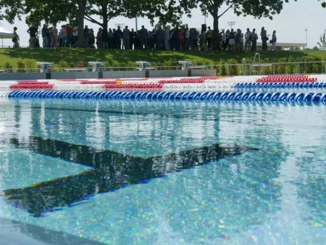 Le bassin nordique de la piscine de Hautepierre compte dix lignes d'eau de 25 mètres.