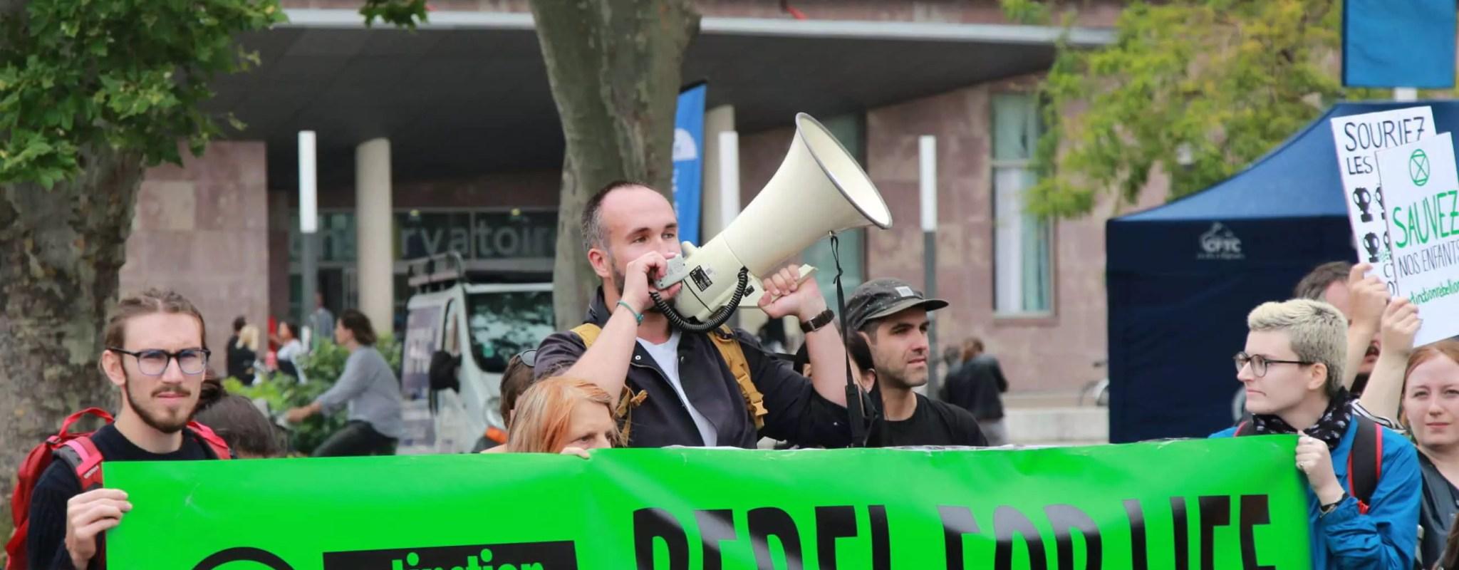 Extinction Rebellion se lance à Strasbourg avec une première action