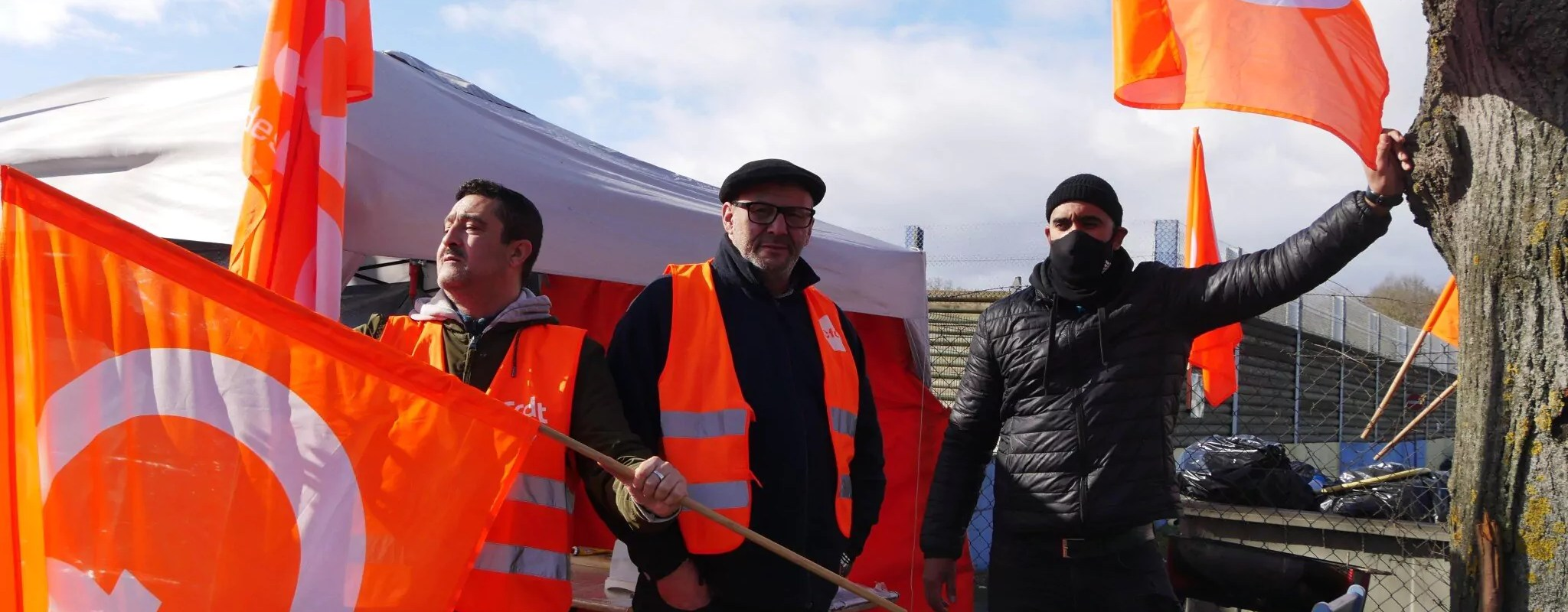 Des conducteurs de bus en grève pour plus d'équité sociale à Keolis Striebig