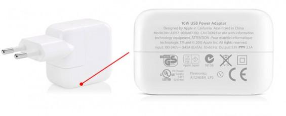 Original USB-Netzteil für das iPad 2