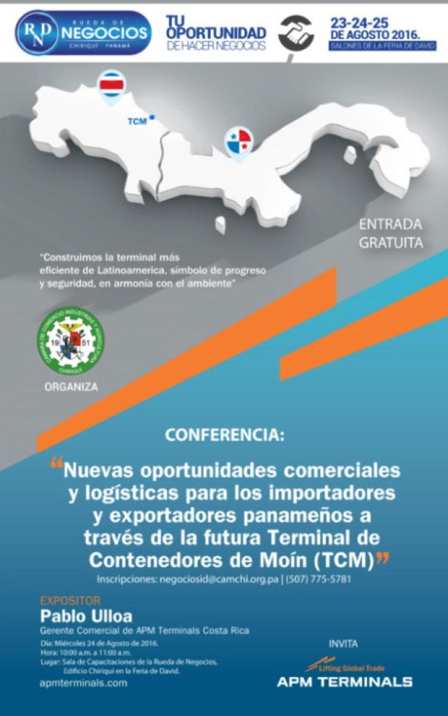 Conferencia: Nuevas oportunidades comerciales y logísticas para los importadores y exportadores panameños a través de la futura Terminal de Contenedores de Moín (TCM)