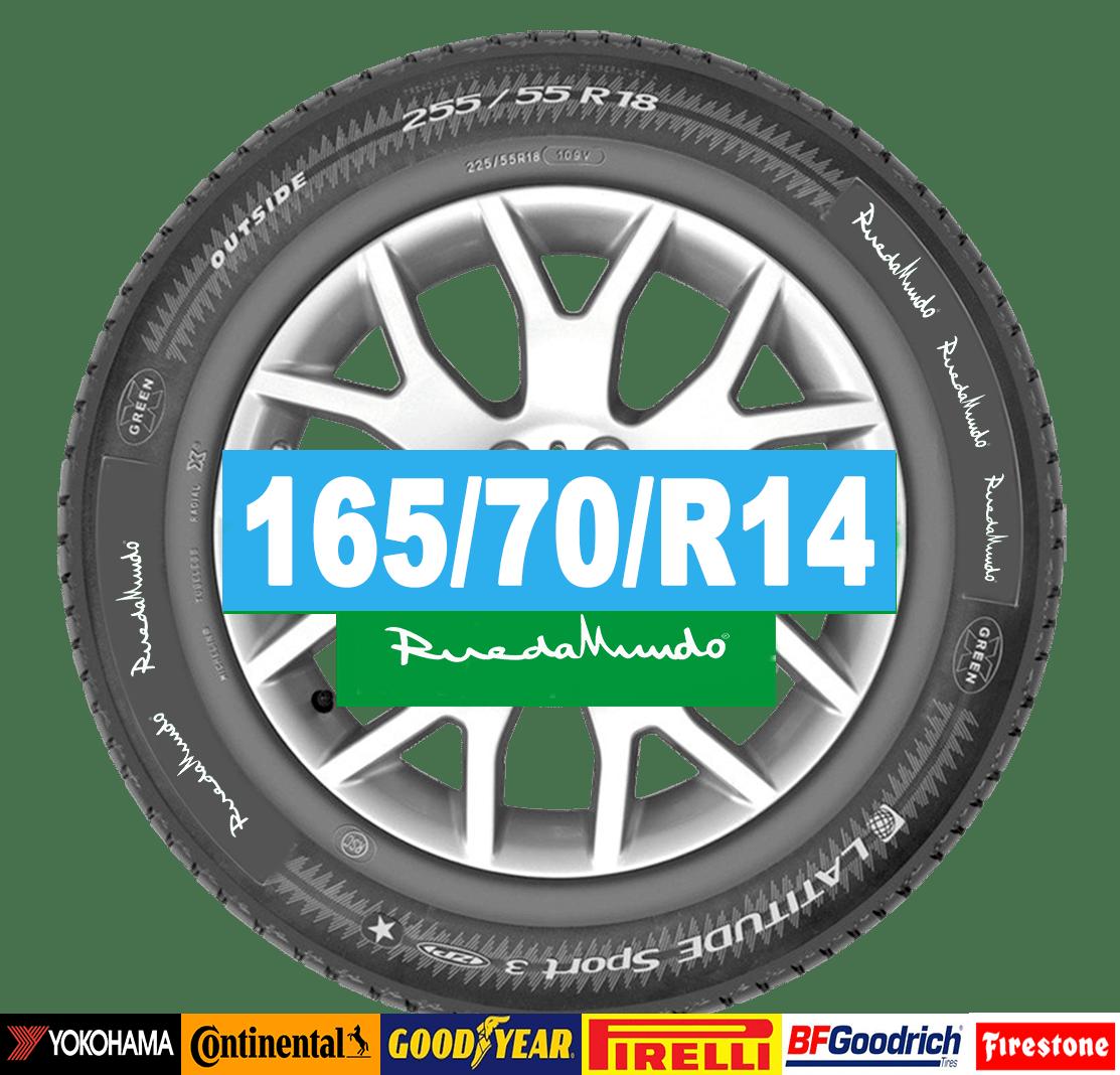 neumático seminuevo 165-70-r14