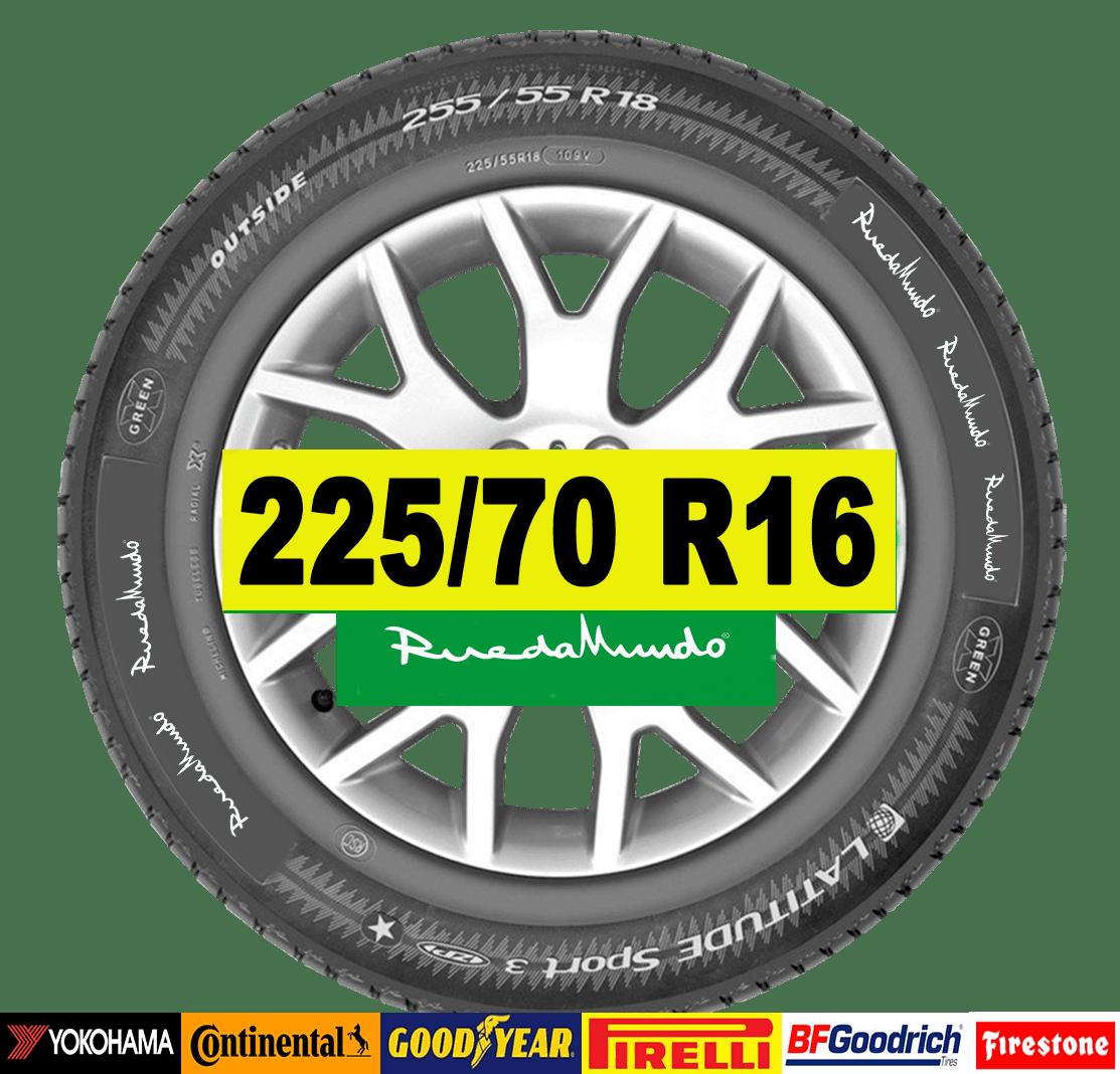 ruedas seminueva 225/70 R16